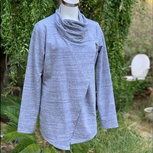 DANSKIN Gray French Terry Bliss Wrap Cardigan XL
